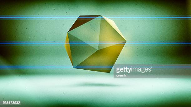 抽象的なポリゴン 3 D 形状低
