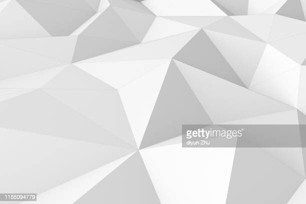 abstract low polygonal background ,3d render - two dimensional shape stock pictures, royalty-free photos & images