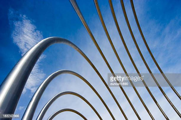 Abstract Metal Pipes