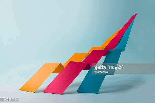 abstract minimalist dynamic growth chart still life. - shooting at goal stock pictures, royalty-free photos & images