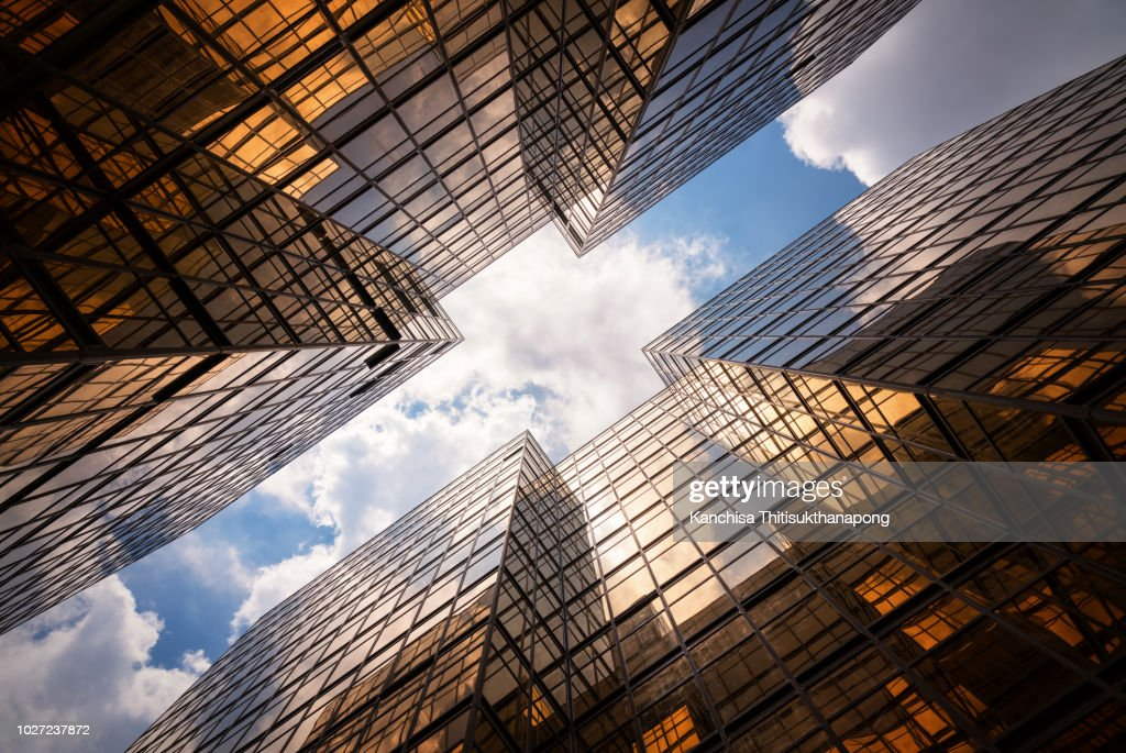 Abstract mirror building texture : Stock Photo