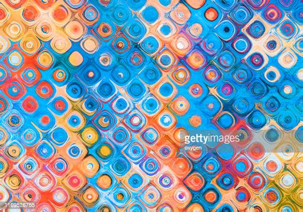 abstract morphing blue and violet shapes background - fantasy stock pictures, royalty-free photos & images