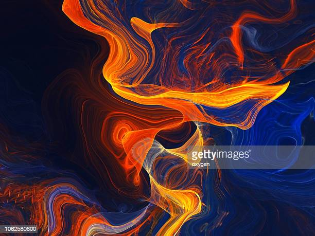 abstract morphing yellow and blue shapes background - lava stock pictures, royalty-free photos & images