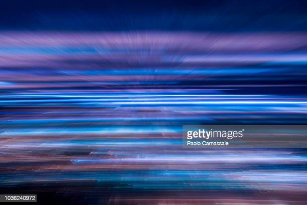 Abstract motion of city lights