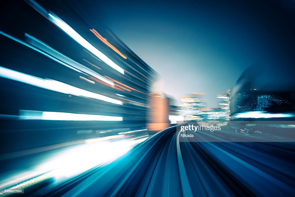abstract motion-blurred view from a moving train : Bildbanksbilder