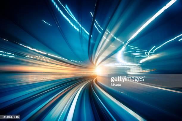 動いている列車から抽象的ないたブレ ビュー - track imprint ストックフォトと画像