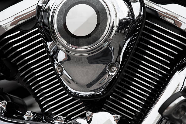 Abstract Motorcycle Engine Wall Art