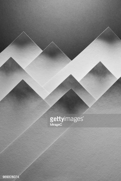 abstract mountain shape paper - 物の形 ストックフォトと画像