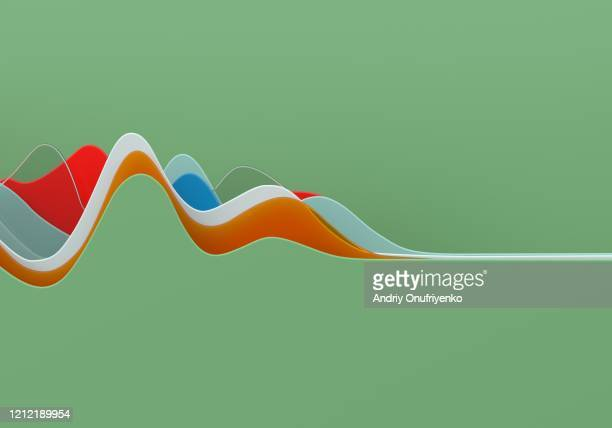 abstract multi colored curve chart - design stock pictures, royalty-free photos & images