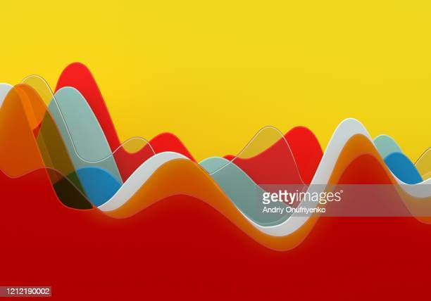 abstract multi colored curve chart - pandemie stock-fotos und bilder