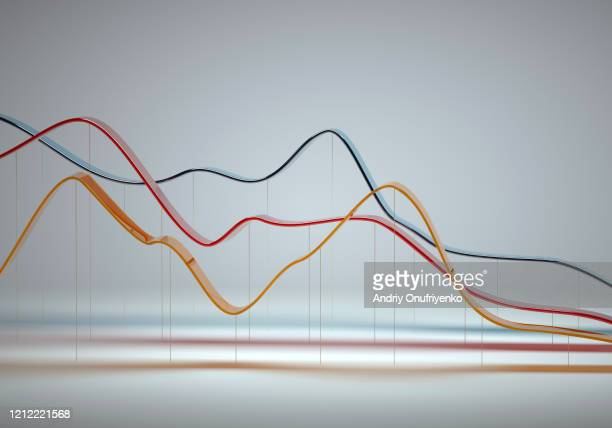 abstract multi colored curve chart - graph stock pictures, royalty-free photos & images