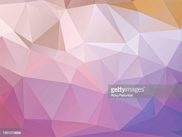 abstract multi colored geometric polygon background - 菱型 ストックフォトと画像