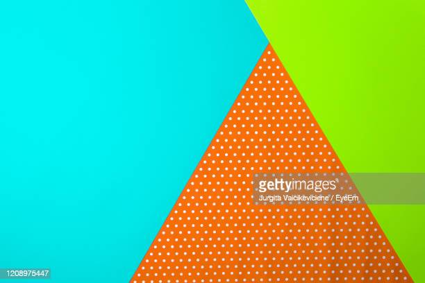 abstract multi colored geometric shape color background - polka dot stock pictures, royalty-free photos & images