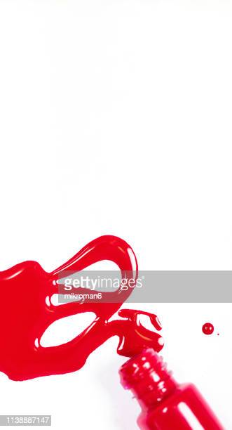 abstract multicolor background - red nail polish stock pictures, royalty-free photos & images