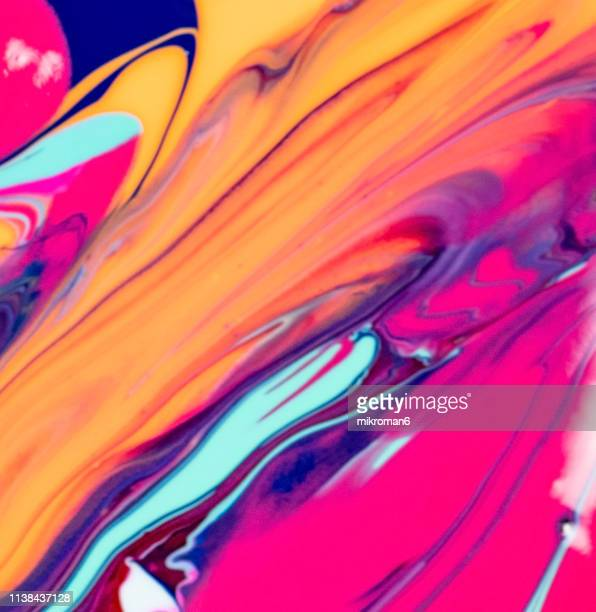 abstract multicolor liquid background - nail varnish stock pictures, royalty-free photos & images