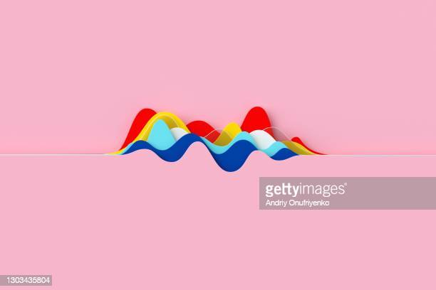 abstract multicolored curve chart - speech recognition stock pictures, royalty-free photos & images