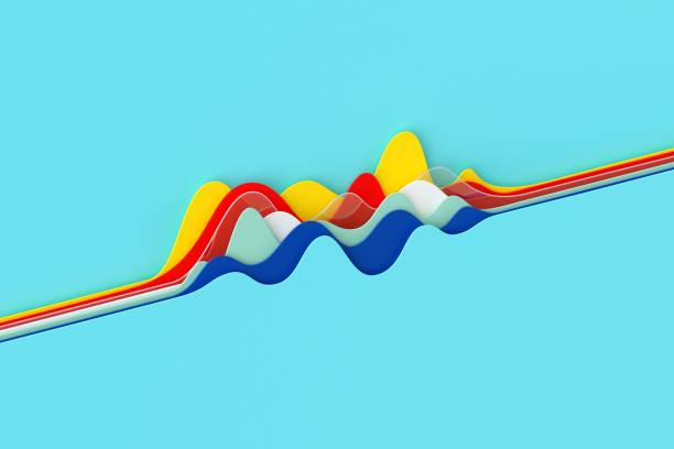 Abstract multicolored curve chart