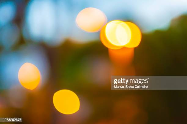 abstract multicolored defocused lights - benicassim stock pictures, royalty-free photos & images