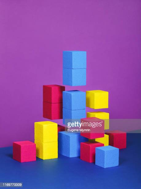 abstract multi-colored objects on colored background - topics stock pictures, royalty-free photos & images