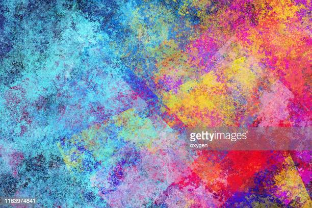 abstract multicolored texture background. digital illustration imitating oil painting on canvas - acrylmalerei stock-fotos und bilder