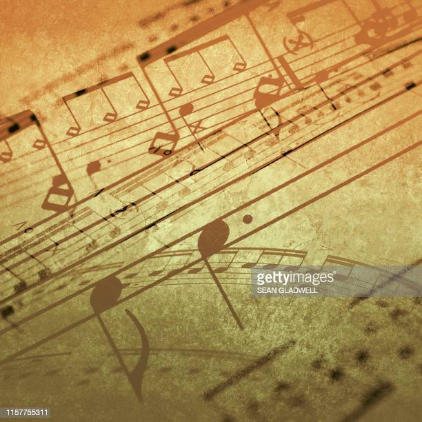 abstract music notes - grimes musician stock pictures, royalty-free photos & images