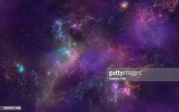 abstract nebula background - nevels en gaswolken stockfoto's en -beelden