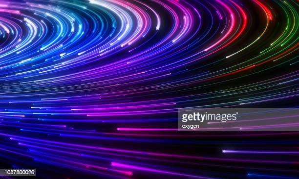 abstract neon geometric shape technology background - line art stock pictures, royalty-free photos & images
