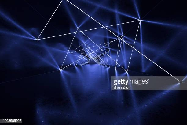 abstract neon light background,3d render - laserlicht stock-fotos und bilder