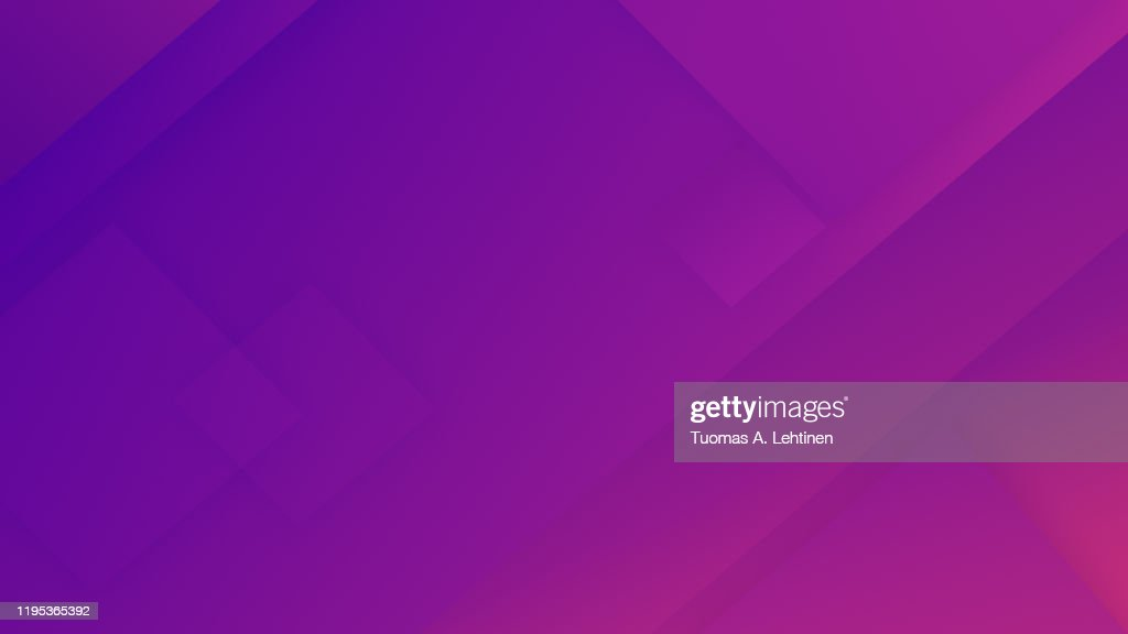 Abstract neon purple and pinkish diagonal rectangles and triangles with color gradient. Geometric vector illustration background, creative design template. 4k resolution. : Stock Photo