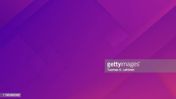 abstract neon purple and pinkish diagonal rectangles and triangles with color gradient. geometric vector illustration background, creative design template. 4k resolution. - purple stock pictures, royalty-free photos & images