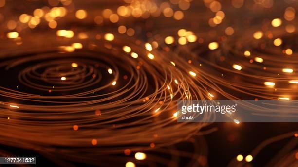抽象的なネットワーク接続の背景 - パソコンケーブル ストックフォトと画像