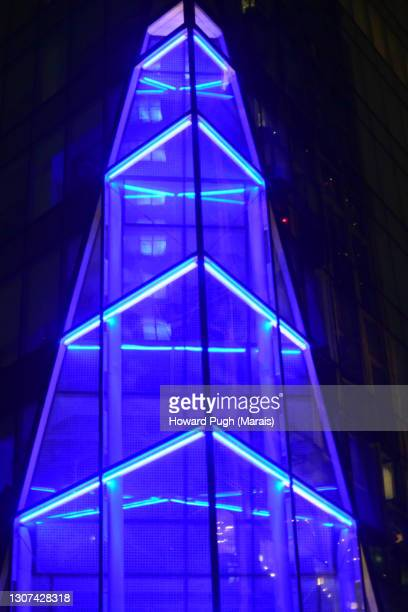 abstract night architectural background - howard pugh stock pictures, royalty-free photos & images