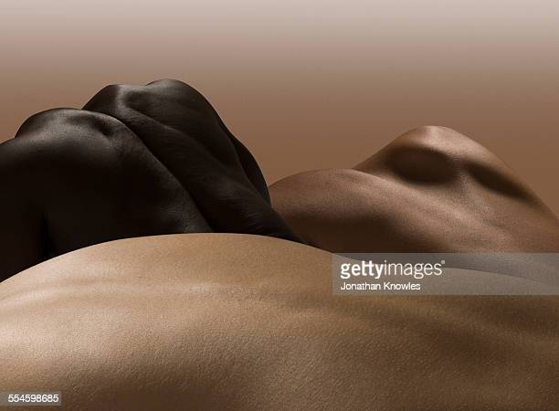 abstract nude bodies, different colours - naked stock pictures, royalty-free photos & images