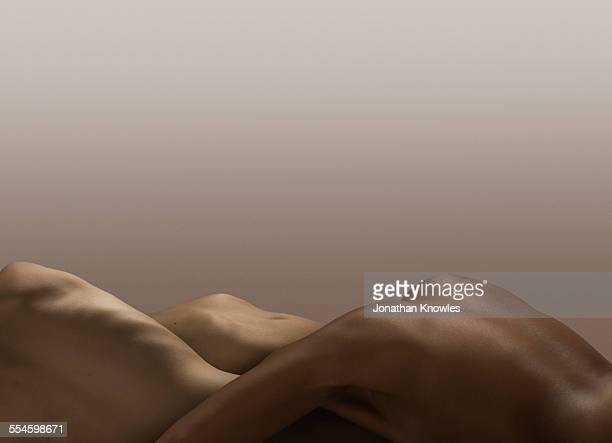 Abstract nude bodies, different skin colours