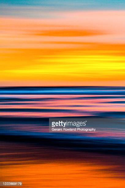 abstract ocean art - romantic sunset stock pictures, royalty-free photos & images