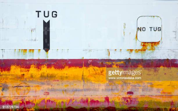Abstract of a containership in Hamburg harbor