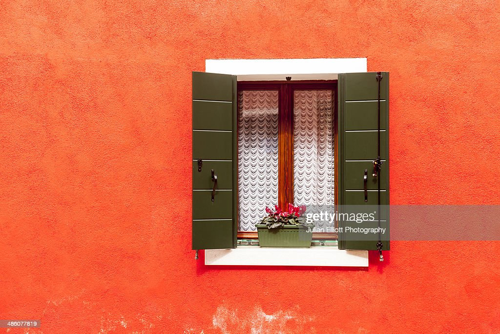 Abstract of a house on Burano, Venice. : Stock Photo