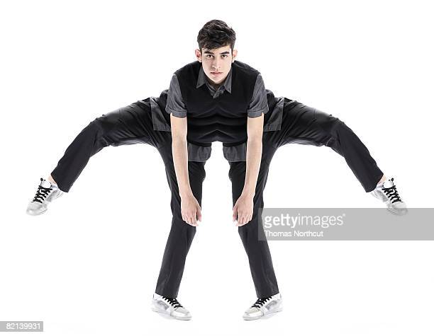 Abstract of Boy Stretching