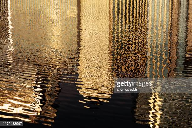 abstract of city skyscrapers - canary wharf stock pictures, royalty-free photos & images