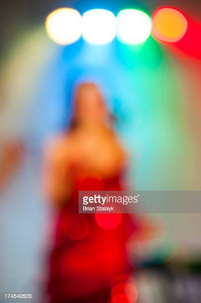 Abstract of female in red dress