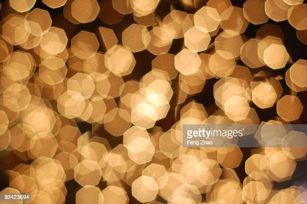 Abstract of polka dot light pattern