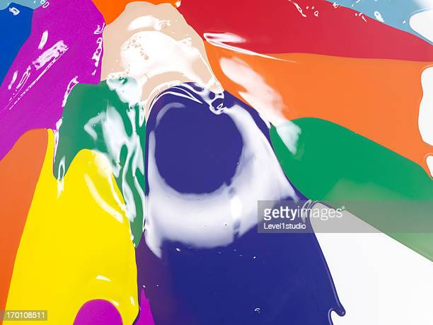 Abstract of the color paint