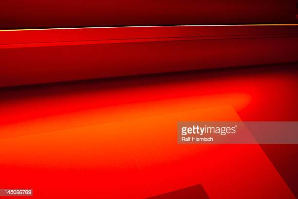 Abstract of three dimensional red shapes
