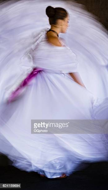 Abstract of traditional dancer with motion blur