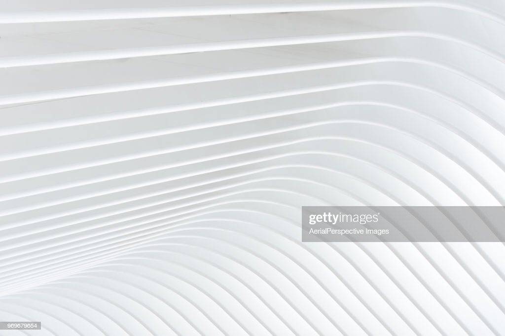 Abstract of white curved architectural : Stock Photo