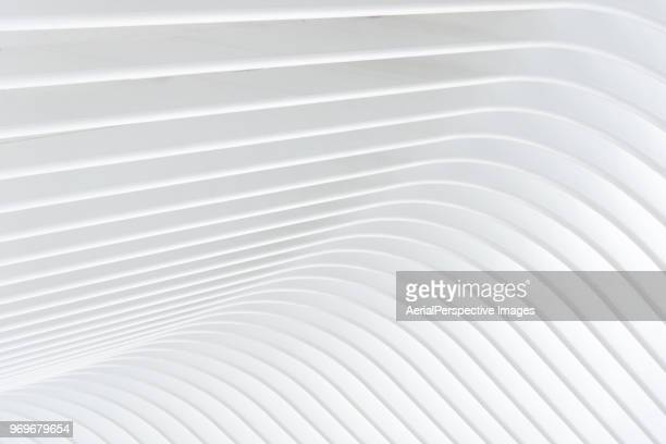 Abstract of white curved architectural