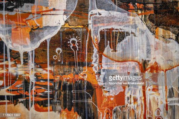 abstract oil paint texture on canvas, background - ええじゃないか 発祥の地 ストックフォトと画像