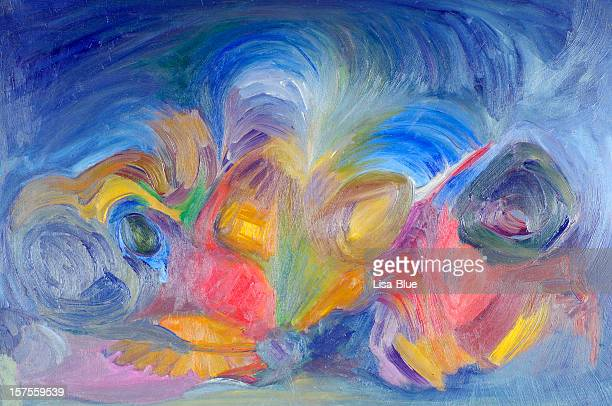 Abstract Oil Painting Multicolored Texture Background Pattern