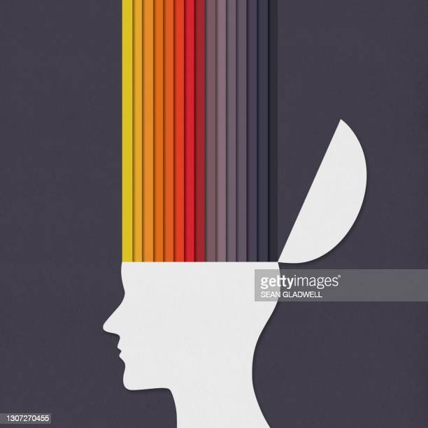 abstract open head - contemplation stock pictures, royalty-free photos & images