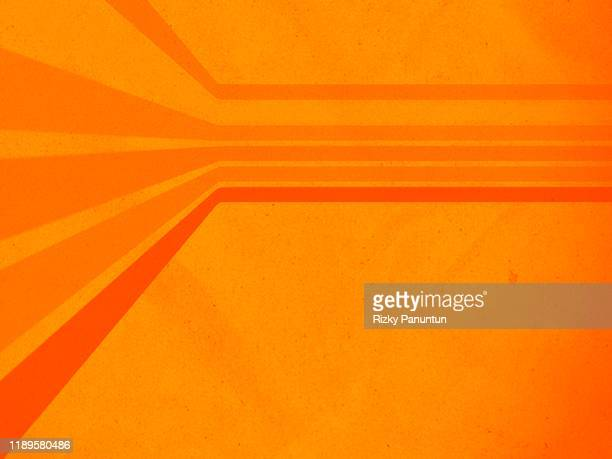 abstract orange background with lines - orange background stock pictures, royalty-free photos & images